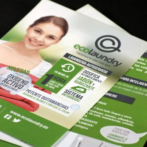 Diseño de aplicación móvil y publicidad para lavandería Ecolaundry en Oviedo