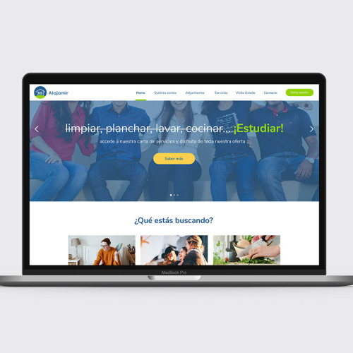 Creacion de portal web para estudiantes de MIR Alojamir por la agencia de comunicación Bendito Dilema